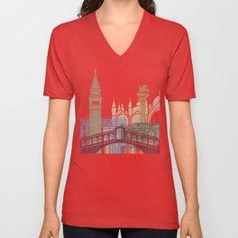 Venice skyline poster Unisex V-Neck