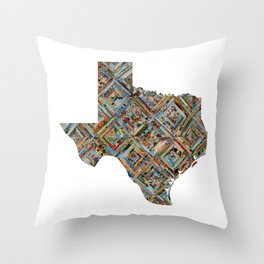 Map of Texas Throw Pillow