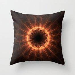 Firey Iris Throw Pillow
