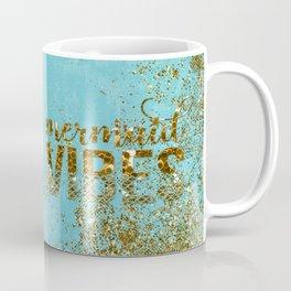 Mermaid Vibes - Gold Glitter On Teal Coffee Mug