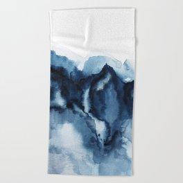 Abstract Indigo Mountains Beach Towel