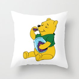 Winnie The Pot Throw Pillow