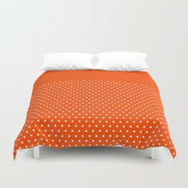 Dots on Clementine Duvet Cover