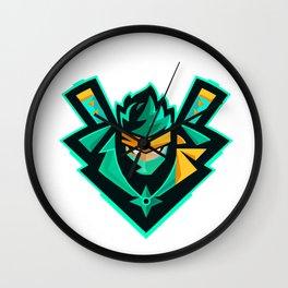 green ninja Wall Clock