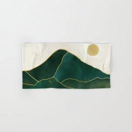 Mt Hood Emerald Mountain Abstract Hand & Bath Towel