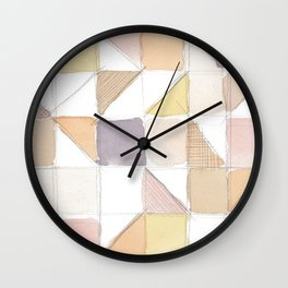 Watercolor Sketch Wall Clock