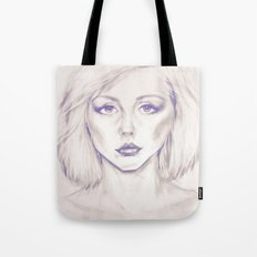 Debbie Harry from Andy Warhol famous picture Tote Bag