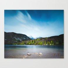Lake Bohinj with Alps in Slovenia Canvas Print