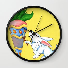 Easter Carrot Wall Clock