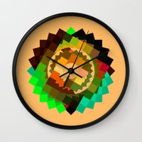 vertigo Wall Clocks featuring Vertigo by eff.