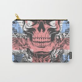 British flag with skull and bones Carry-All Pouch