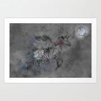 Safari moon Art Print