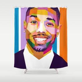 Michael B Jordan Shower Curtain