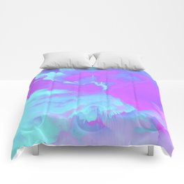 Organized Chaos Glitched Fluid Art Comforters