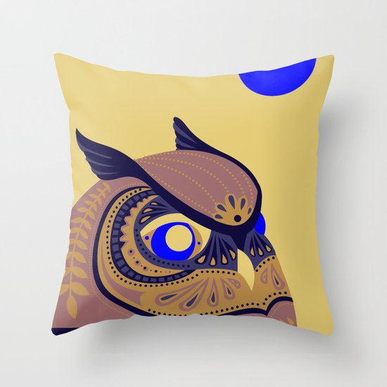Night Owl Throw Pillow