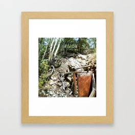 Colorado Gold Rush Mine and Cabin, No. 1 of 3 Framed Art Print