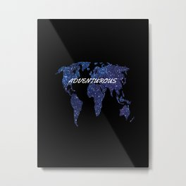 Adventurous World Map Metal Print