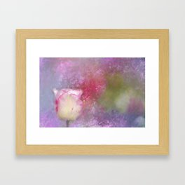 Spring Tulip Impression Framed Art Print
