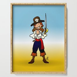 Pirate Girl Serving Tray