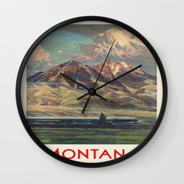 Vintage poster - Montana Wall Clock