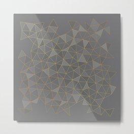golden grid Metal Print