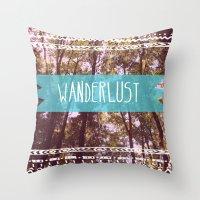 wanderlust Throw Pillows featuring Wanderlust by AA Morgenstern