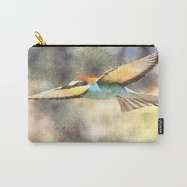 European Bee Eater In Flight Watercolor Carry-All Pouch