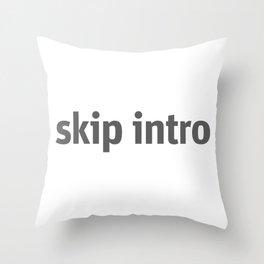 skip it Throw Pillow