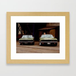 1968 Dodge Charger R/T - Seeing Double Framed Art Print
