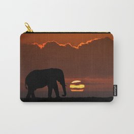 Elephant At Sunset Carry-All Pouch