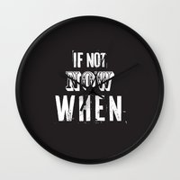 quotes Wall Clocks featuring quotes by Regina Trifeau