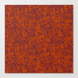 Jaguar - pattern - orange and red Canvas Print