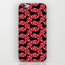 Polka Dachshunds iPhone Skin