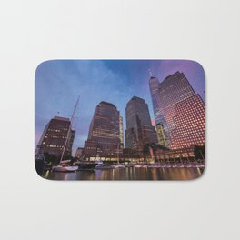 Sunset at Brookfield Place in Battery Park 2017 Bath Mat