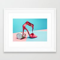 shoe Framed Art Prints featuring shoe by Fah + Mindo