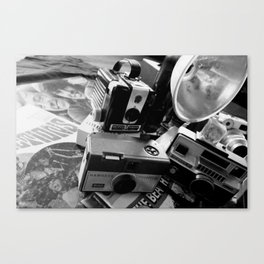 DAYS GONE BY BLACK AND WHTE 4 Canvas Print