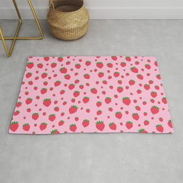 Whimsical strawberry pattern Rug