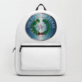 Metal Texas State Seal Backpack