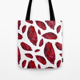 Garnet Birthstone Watercolor Illustration Tote Bag