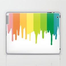 rainbow paint drips Laptop & iPad Skin