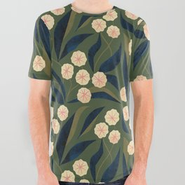Green Floral All Over Graphic Tee