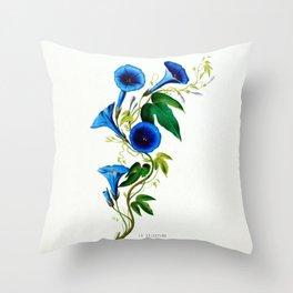 La Celestine Vintage Botanical Flore D Amerique Throw Pillow