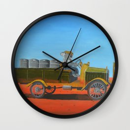 Aussie Beer Truck Wall Clock