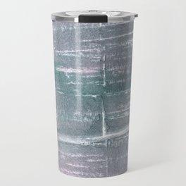 Roman silver abstract watercolor Travel Mug