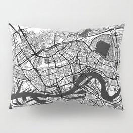 Rotterdam Map Gray Pillow Sham