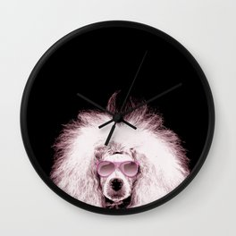 Poodle Dog Digital Art Wall Clock