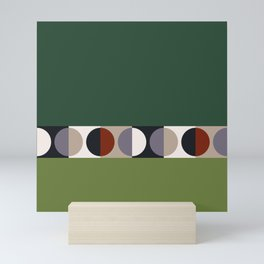 malevich moon    pine green Mini Art Print