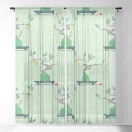 Mini Bonsai <kumquat> Sheer Curtain