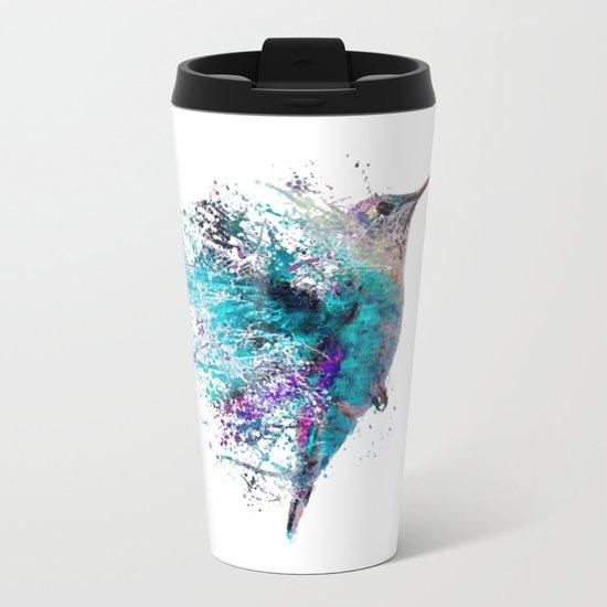 HUMMING BIRD SPLASH Metal Travel Mug