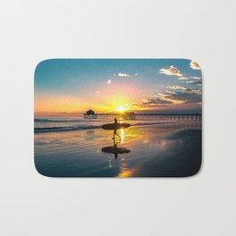 Surf City USA - Little Surfer Girl Bath Mat